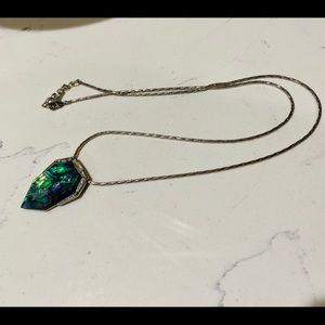 Northern lights long pendant necklace